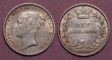 1878 QUEEN VICTORIA YOUNG HEAD SHILLING - Top Grade Coin Die No 74