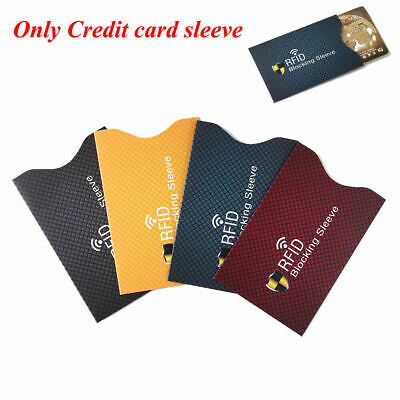 10PCS RFID Credit Card Protector Anti Theft Blocking Card holder Sleeve Cover
