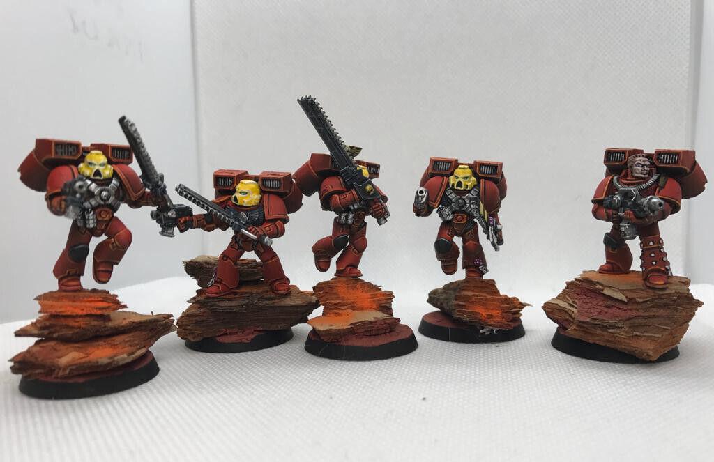 Warhammer 40k spazio Marines Blood Angels Assault  Squad x5 (Pro-Painted)  miglior prezzo migliore