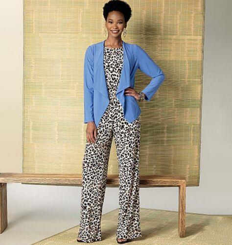 Romper... Butterick Ladies Easy Sewing Pattern 6330 Jacket Elastic Waist Dress