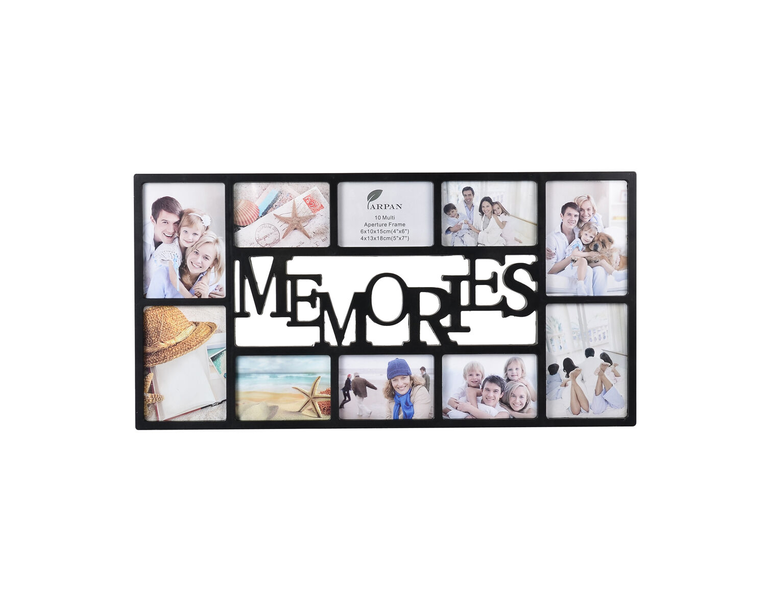 10 Multi-Picture Aperture Photo Frame Wall Family Memories Frame ...