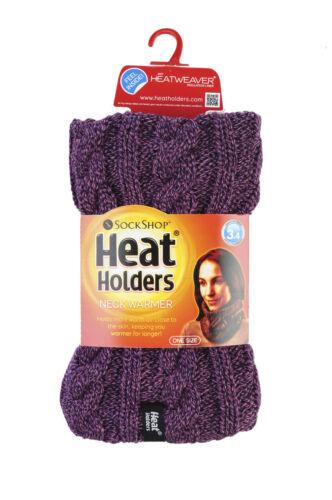 Ladies GENUINE Thermal Winter Warm Heat Holders Neck Warmer Snood Scarf 1 no