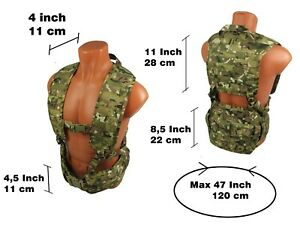 Modular Vest military paintball tactical airsoft chest rig molle multicam