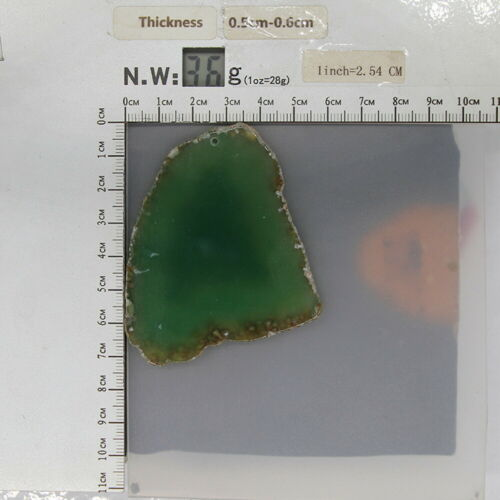 Color Printing Horse Agate Gemstone Pendant Necklace H1908 0702