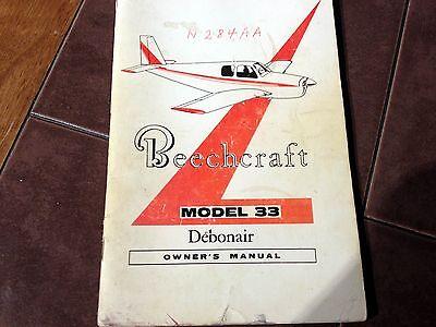 Beechcraft Debonair Model 33 Owner S Manual EBay