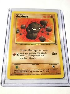 Geodude PokeMon Card Fossil Set kaartspellen