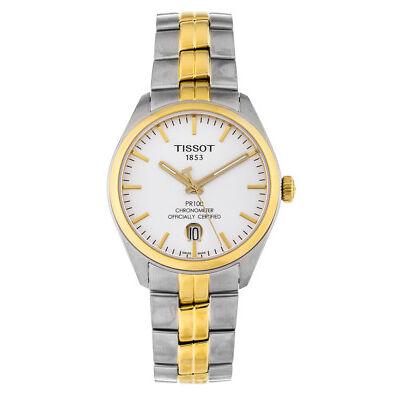 Tissot PR 100 Powermatic 80 COSC Two Toned Steel Automatic Watch T1014082203100