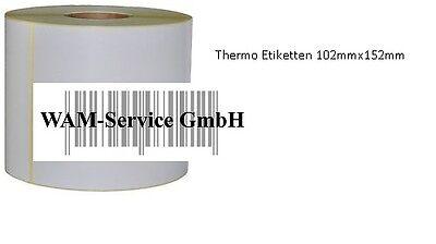152mm  Versandetiketten Thermo Etiketten 102mm