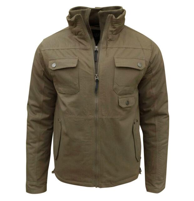 Soul Star Men's Peter Bomber Jacket Coat Taupe