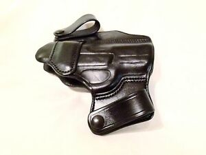Details about Handmade Black Leather Gun Holster Ruger SR9C IWB Inside  Waist Band Made in USA