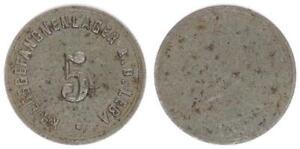 Deutschland, KGL A. d. Leba, Wertmarke zu 5 ss-vz 55107