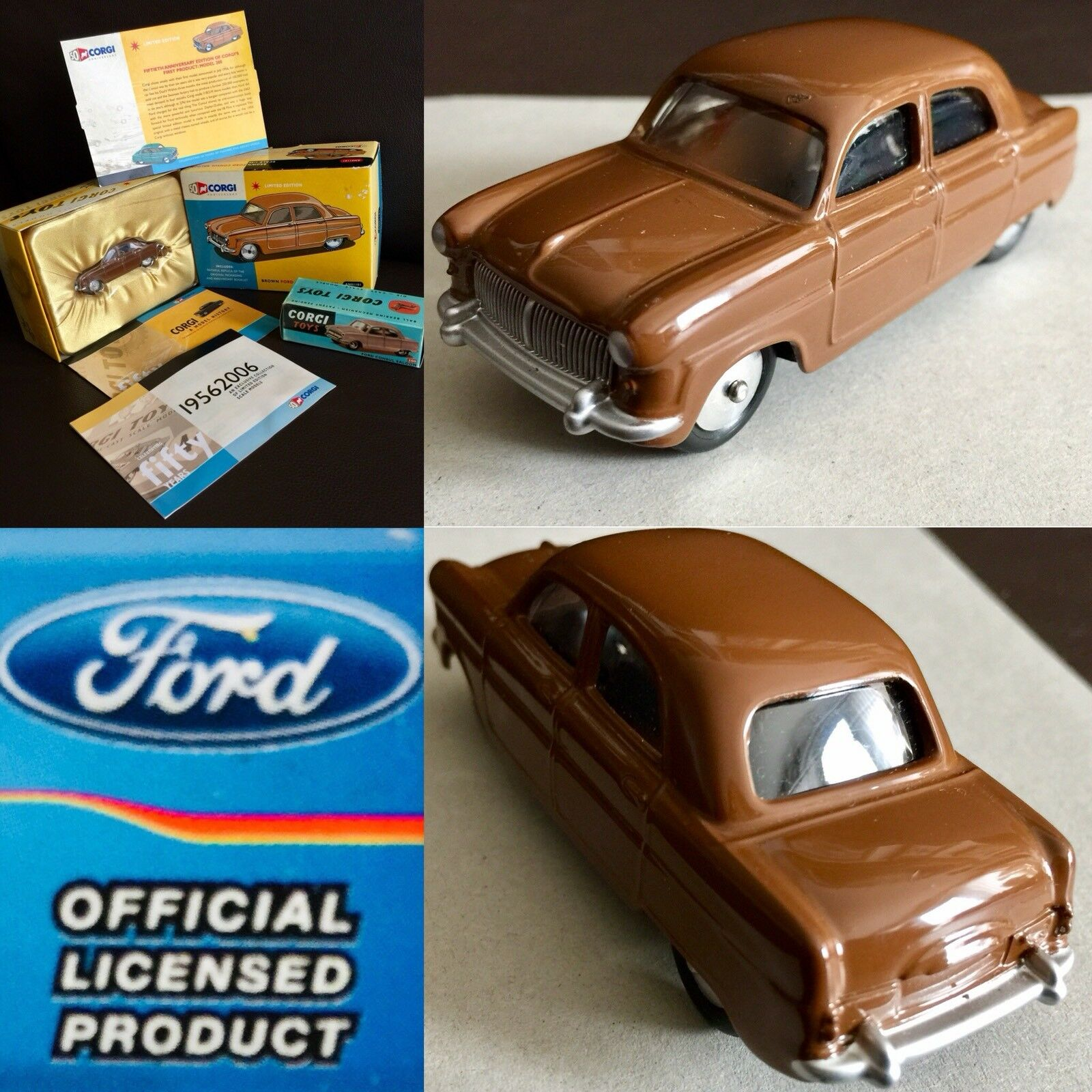 50th Anniversary Limited Edition of Corgi's First Ever Product 1956 Ford Consul