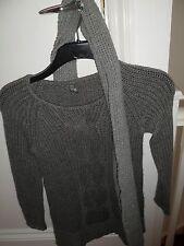 New Zara Kids sweater and scarf – 9-10 years, 140 cm - 85% Acrylic, 15% Wool