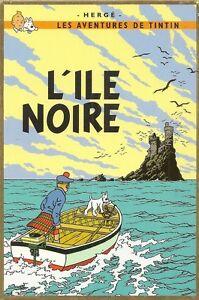 CARTE-POSTALE-LES-AVENTURES-DE-TINTIN-ILLUSTRATEUR-HERGE-L-039-ILE-NOIRE
