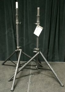 New Pair Ultimate Support Ts 100b Speaker Stands Ts100