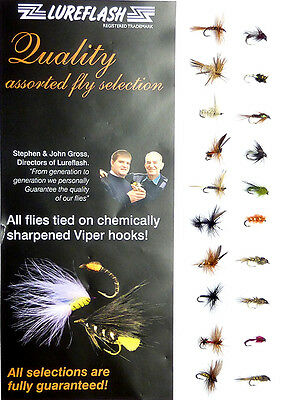 20 Assorted MICRO Trout Fly Fishing Flies - Superb for Rivers & Lakes (49558)