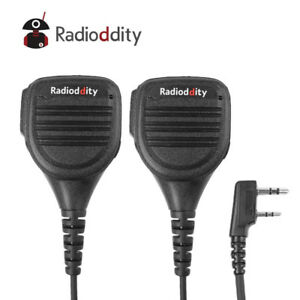 2Pcs-Radioddity-Shoulder-Speaker-Mic-for-GD-77-Baofeng-UV-5R-TP-GT-3-TYT-8000E