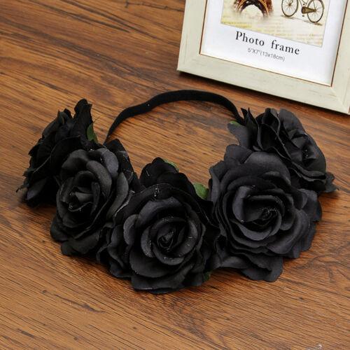 Ladies Crown Floral Rose Flower Headband Hairband Wedding Hair Garland Headpiece