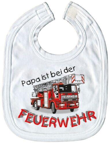 Laetzchen papa est chez les pompiers qualitaets schlabberlaetzchen 07040c Blanc