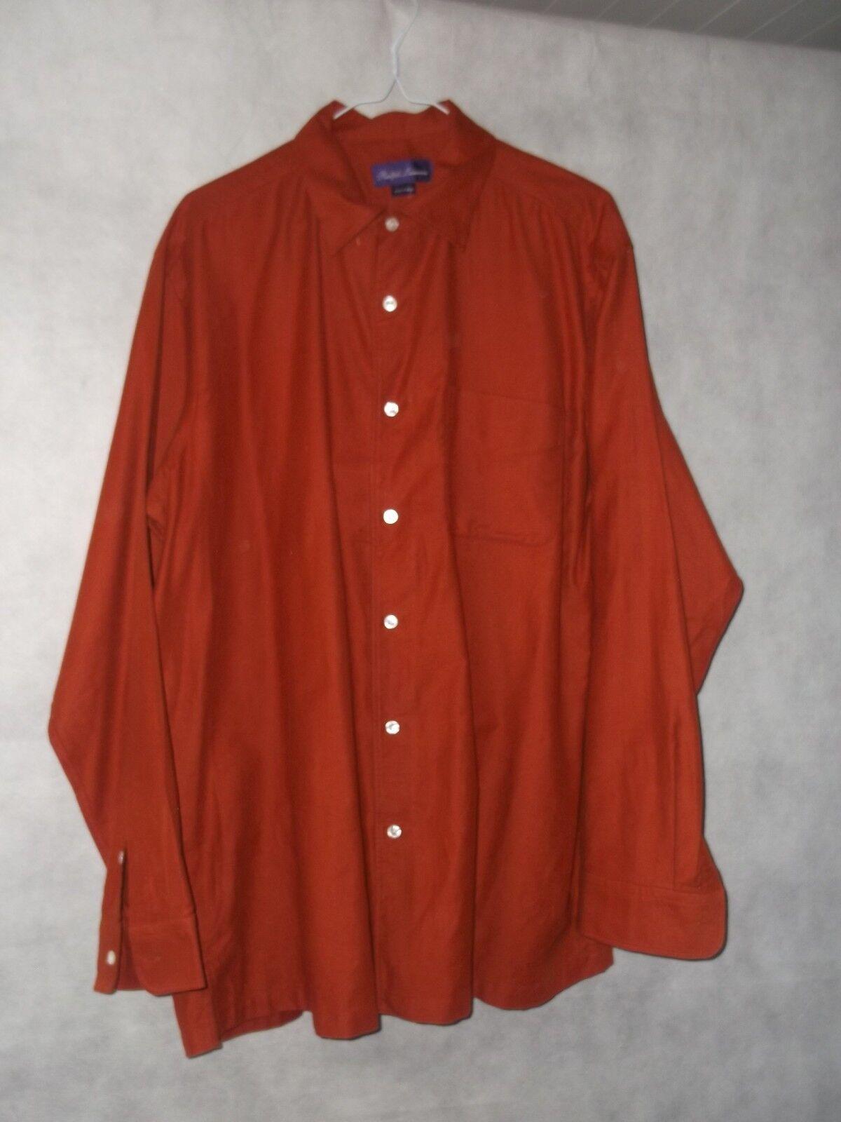 Ralph Lauren viola Label Label Label morbidissima Bruciato Arancione Camicia Taglia L 9d29fc