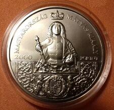 Hungría 2000 Forint 2018 Año en memoria del rey Matthias Corvinus