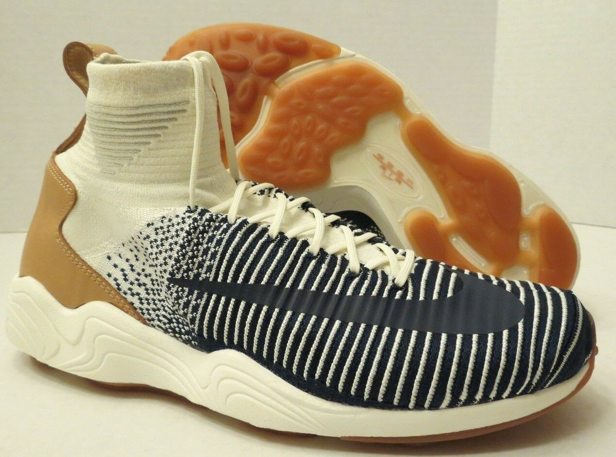 Nike zoom volubile xi fk flyknit 844626 101 sail-navy-pale grey (uomini e 9)