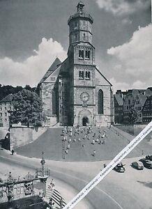 Schwäbisch Hall - Die große Freitreppe - Großformat  -  um 1950 - RAR     K 6-10