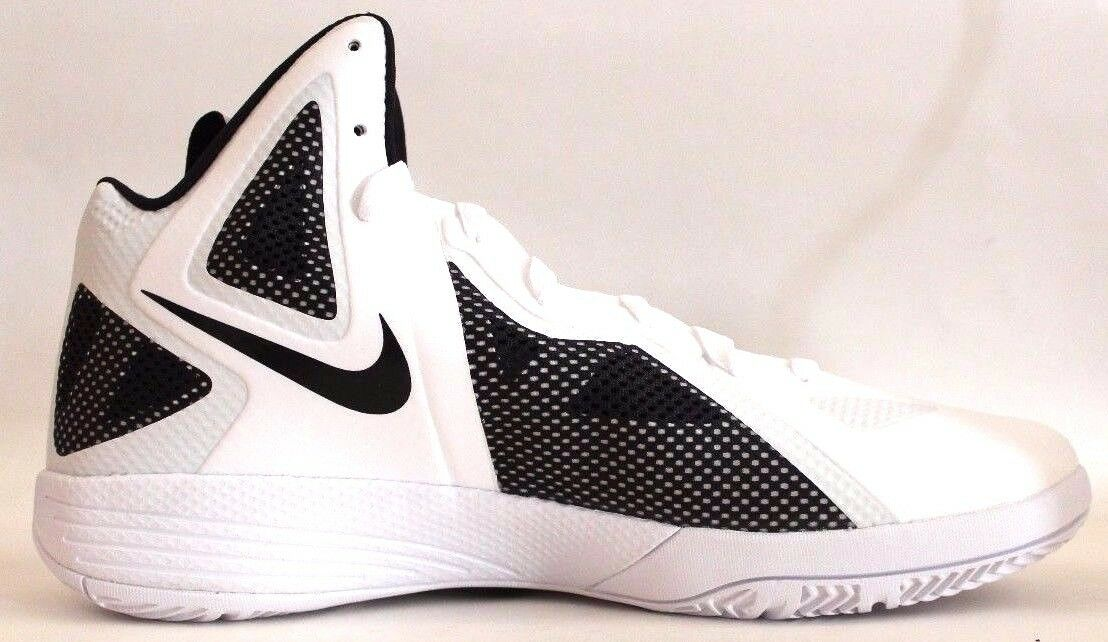 Nike Zoom Hyperfuse 2011 Tb Mens Basketball shoes White Black 454146 100