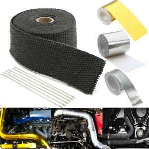 10M Car Gold High Heat Insulation Aluminium Wrap Exhaust Header Pipe Tape Cloth
