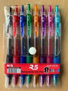 M-amp-G-Retrattile-Penne-Gel-8-Colori-Venditore-UK-Gratis-1st-Classe-Stessa-Giorno