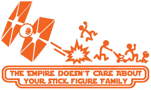 Star Wars Stick Family TIE Vinyl Decal Sticker Car Van Laptop Tablet Wall