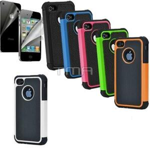 Fits-iPhone-4S-4-Case-Shockproof-Rugged-Rubber-Impact-Hybrid-Hard-Shell-Cover