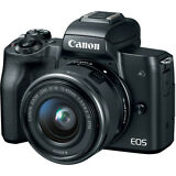 Canon EOS M50 with 15-45mm Mirrorless Digital Camera Kit 2680C011