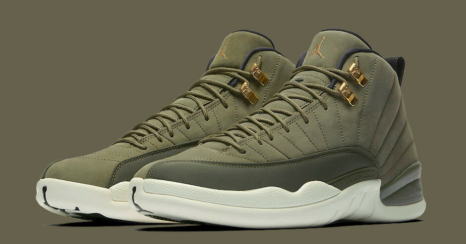 Nike Air Jordan 12 XII Retro size 15. Olive Green gold. Chris Paul 130690-301
