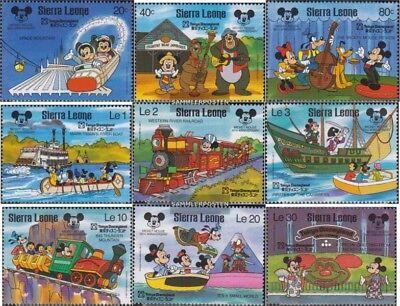 Postfrisch 1987 60 Jahre Mickey Maus Clear And Distinctive Sierra Leone 1056-1064 kompl.ausg.