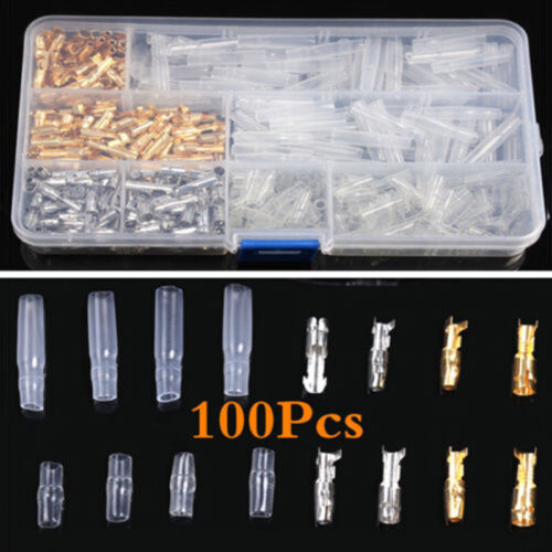 400PCS Auto Motors 3.9mm Brass Bullet Connector Male/&Female Wire Terminals Apply