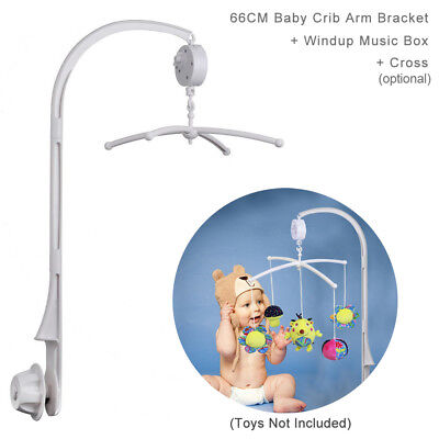 "26/"" 66CM W// Windup Music Box Hight Baby Crib Bed Bell Toys Arm Bracket"