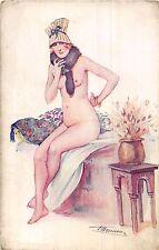POSTCARD   GLAMOUR   EROTIC  LADY   FRILEUSE   S  MEUNIER