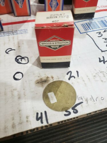 Briggs /& Stratton Filter Screen 22547 NOS