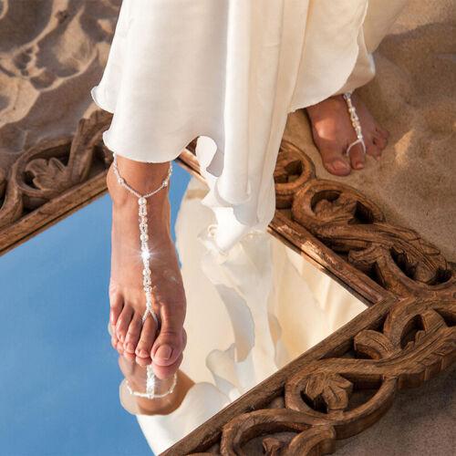 Starfish Barefoot Sandals Bridal Foot Beaded Summer Beach Wedding Jewelry LH
