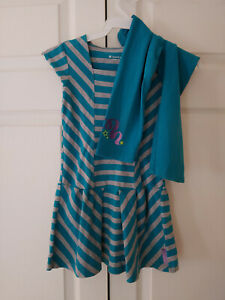 American-Girl-of-the-Year-GOTY-Meet-McKenna-Striped-Dress-Leggings-Size-S-7-8
