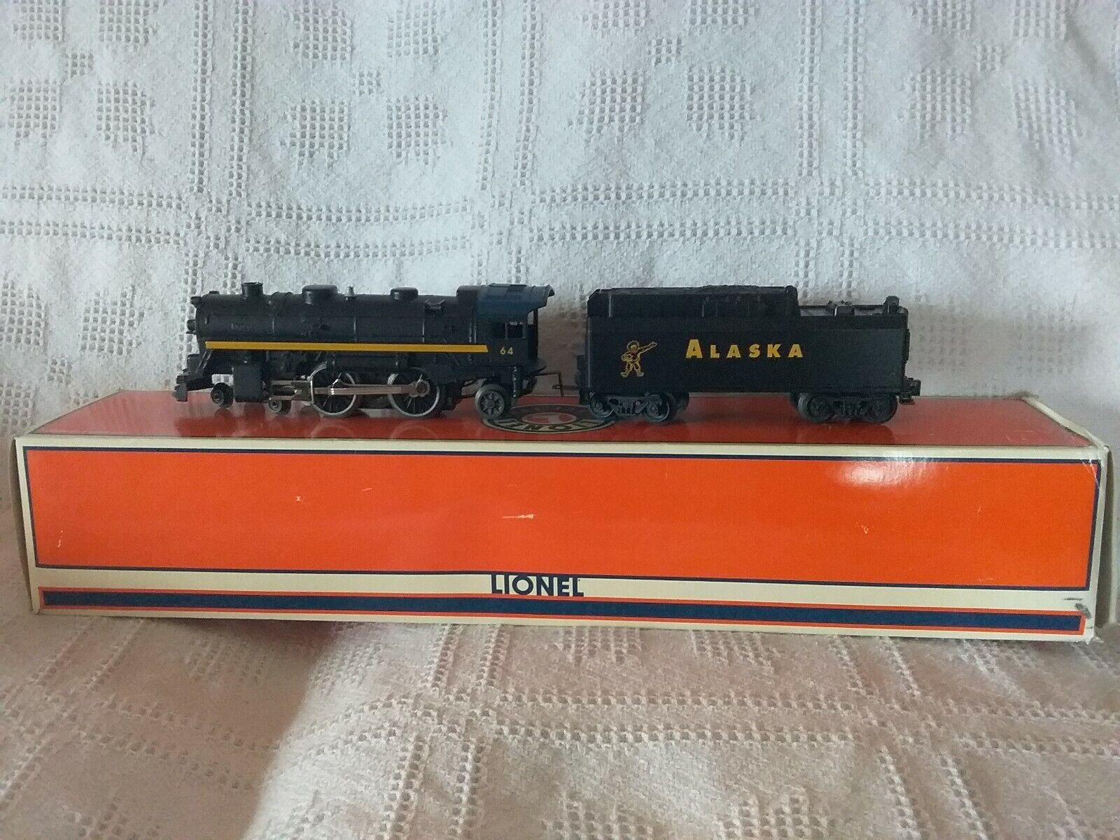 Lionel O gauge  6-18699 Alaska 4-4-2 Steam Locomotive  & Tender Smoke Whistle