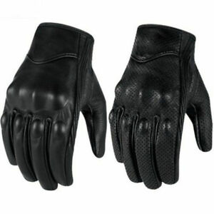 Riding-Bike-Racing-Motorcycle-Protective-Armor-Short-Leather-Gloves-Mesh-M-XL