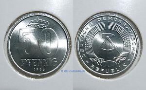 DDR-50-Pfennig-MATT-1958-1989-Jahr-und-Erhaltung-zur-Auswahl