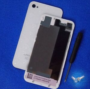 Genuine-Glass-Replacement-for-iPhone-4S-Battery-Cover-White-Back-Door-A1387-Tool