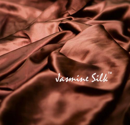 Jasmine Silk Reine Seide Flache Platte (Schokolade) Doppel