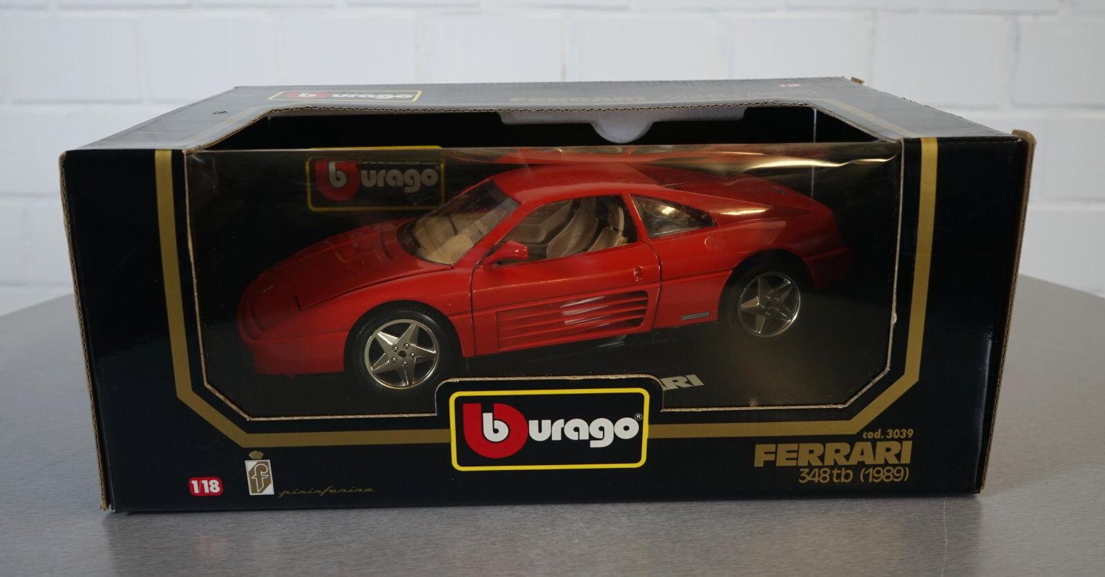 Burago 1   18 ferrari 348tb (1989) rot - 427 - druckguss scale modell auto neu ovp