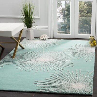 Light Teal Multi Safavieh Soho Wool Area Rug Soh712t Ebay