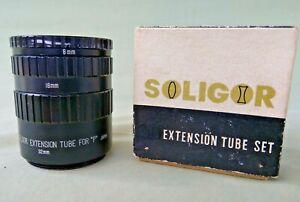 Soligor Tube D'extension Set, Ensemble De 3 (8, 16, 32 Mm) Pour Pentax Vis Fit 42 Mm-afficher Le Titre D'origine Lissage De La Circulation Et Des Douleurs D'ArrêT
