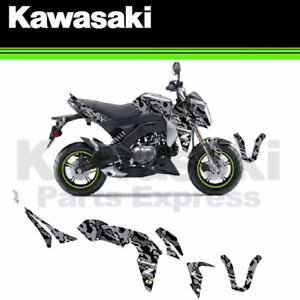 Details About New Kawasaki Z 125 Z125 Pro Green Snow Camo Complete Graphics Kit By Dcor